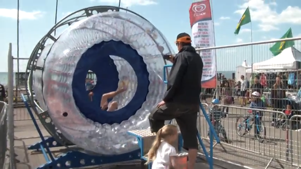 second hand spinfizz zorb water ride