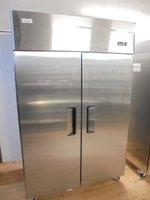 New B Grade Stainless Steel Double Door Upright Fridge