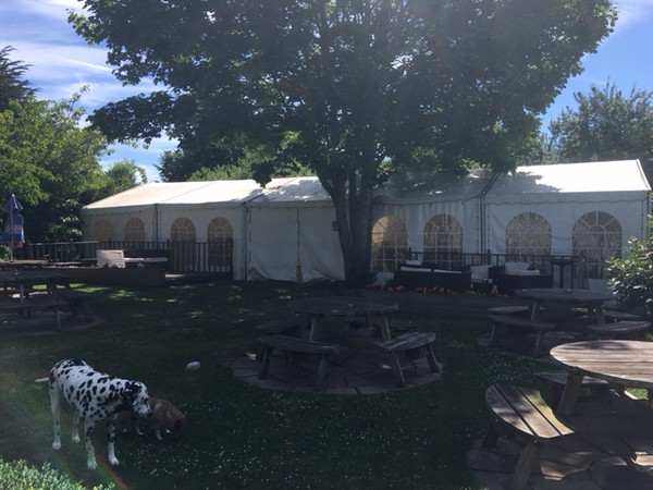 7m x 18m Marquee Complete with Chairs and Tables