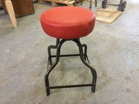Industrial style low bar stools