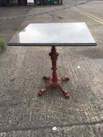 10x 65x65 marble top tables with iron leg