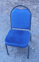 100x Blue Metal Framed Banqueting Chairs