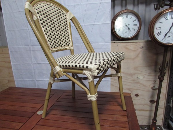 Traditional French Cafe Style Rattan Chairs