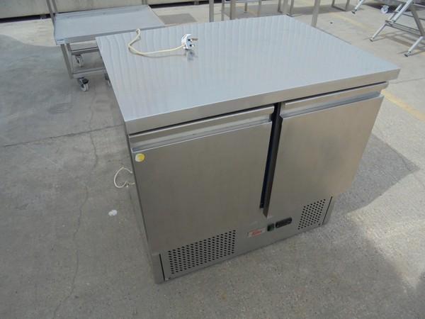 Ex Display Valera Double Door Stainless Steel Bench Fridge(5295)