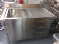 1.2M Commercial Stainless Steel  RHD Single Bowl Sink 600 Series