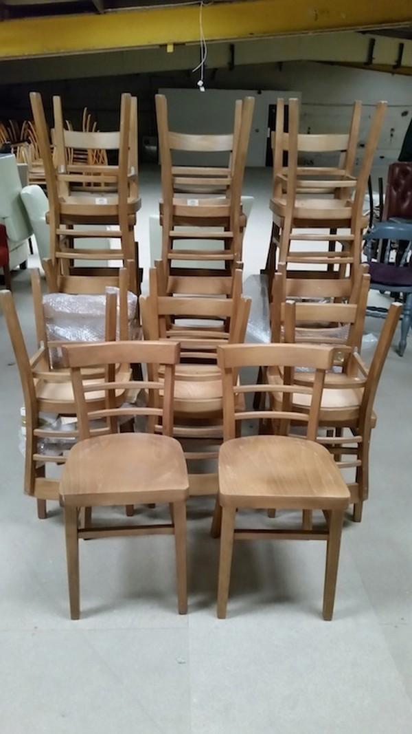 20 New light oak chairs - Derby