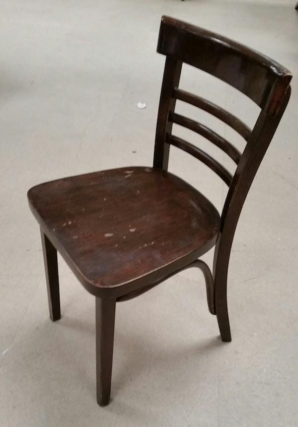48x Dark Oak Bentwood Style Chairs - Derby