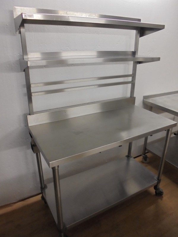 Stainless Steel Table & Double Shelf	(5313)