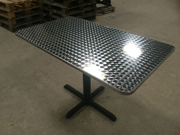 Brushed outdoor table