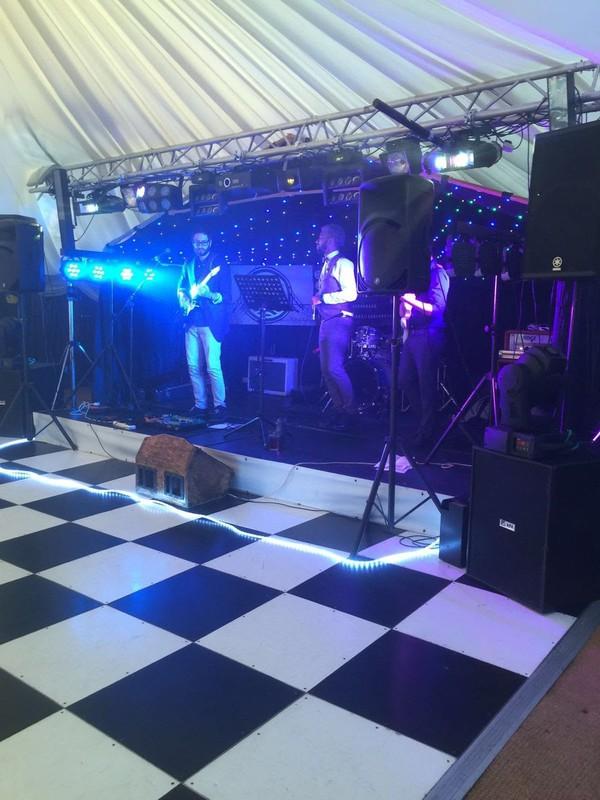 Dance floor with starlight back drop