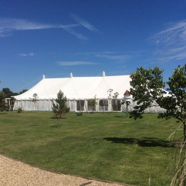 Traditional marquee wedding venue