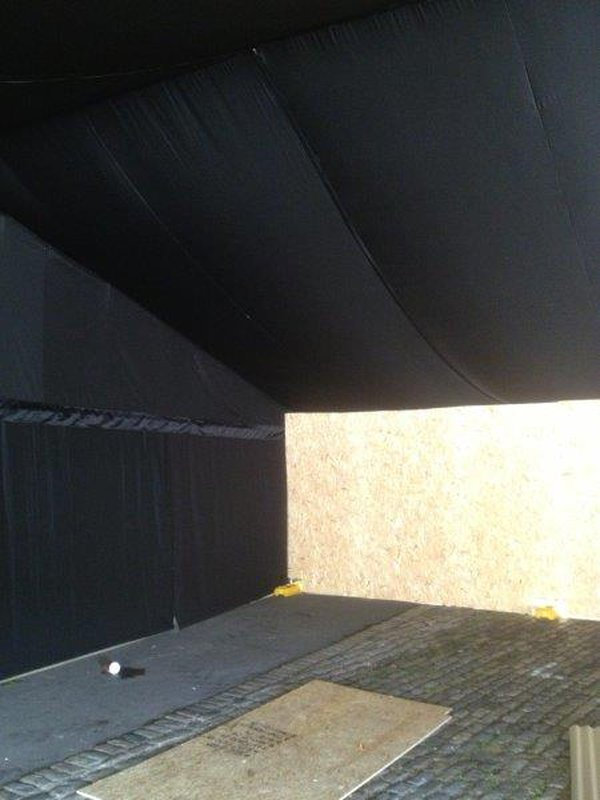 12m x 21m of Blackout Roof Linings