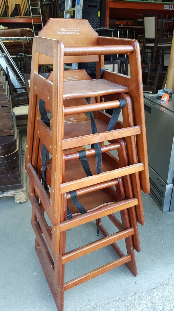 Job Lot 4x Stacking Baby High Chairs