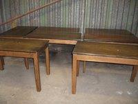 7x Oblong Wooden Pub / Restaurant / Café Tables (Code T 1264A)