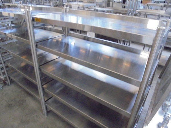 Bartlett Stainless Steel Freestanding Shelves (5339)
