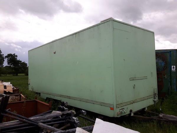Twin axle toilet trailer