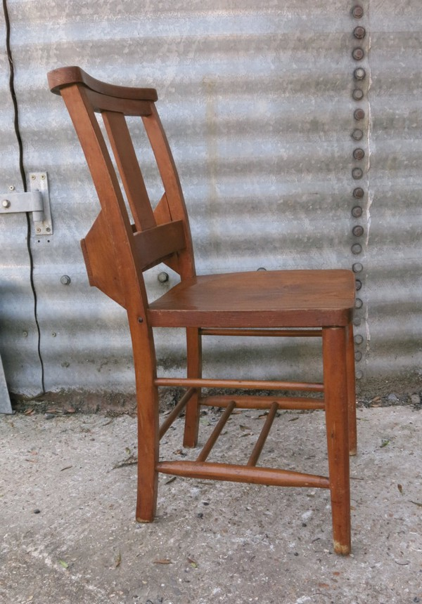 St Damian Elm And Beech Splatback Chapel Church Chair (E) (SHC)