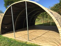 Military Shelter 45.5 x 20 x 10ft Army Tent Marquee Storage MOD Workshop 14 x 6 x 3m