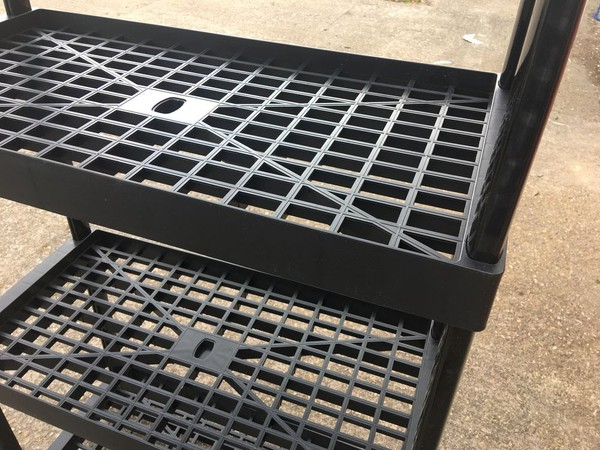 Heavy Duty Black Plastic Shelving