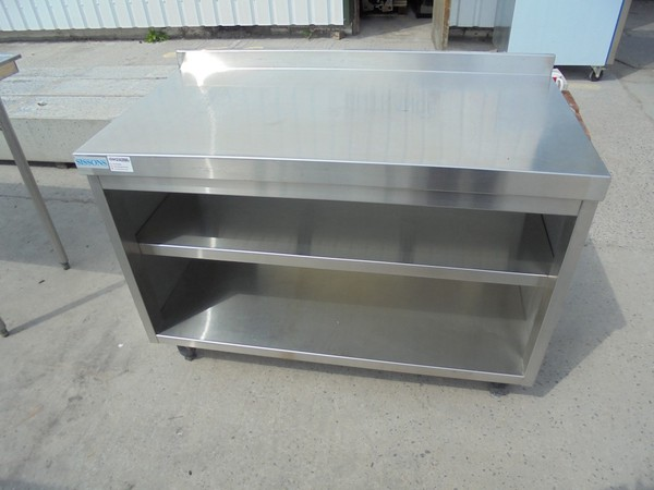 Stainless Steel Sissons Table / Cabinet (5346)