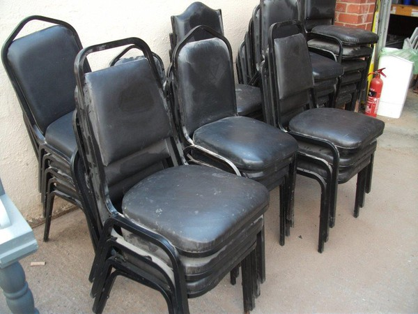 33x Black Stacking Chairs (Code SC 112A)
