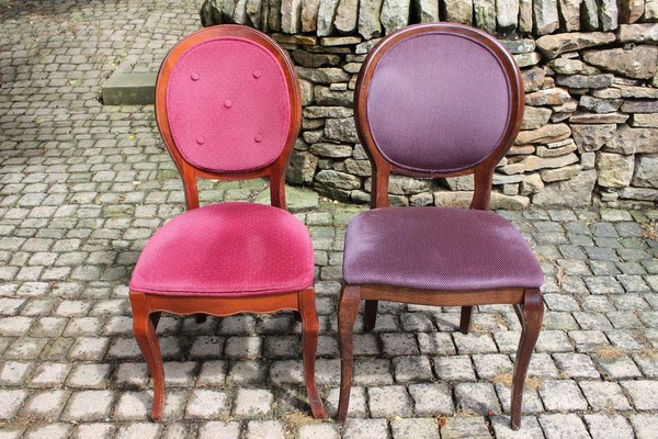 Balloon Back Upholstered Restaurant Chairs