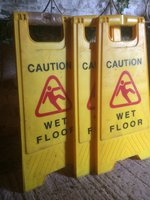 Rubbish Sack Holders and Floor Signs