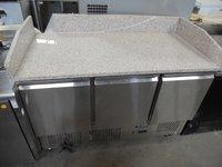 New Atosa 3 Door Bench Fridge With Marble Top