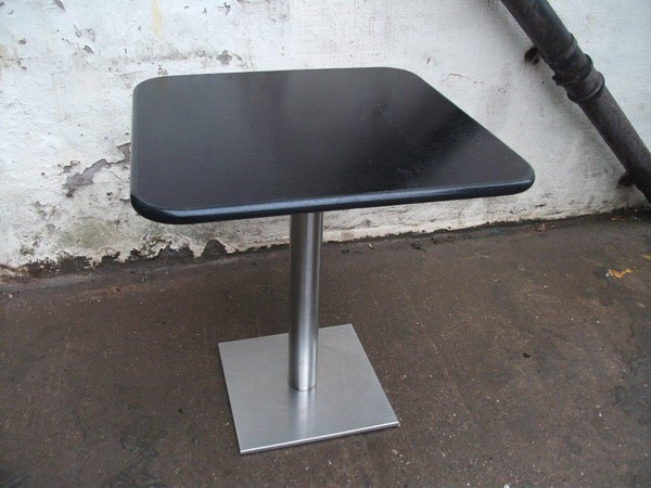Restaurant/Café Tables With Polished Chrome/Stainless Steel Bases
