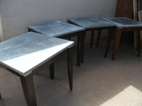 Galvanized Topped Restaurant/Café Tables