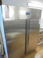 New Polar Stainless Steel Heavy Duty Double Door Upright Freezer