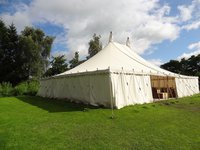 40ft x 50ft Traditional Pole Marquee With Tables And Chairs