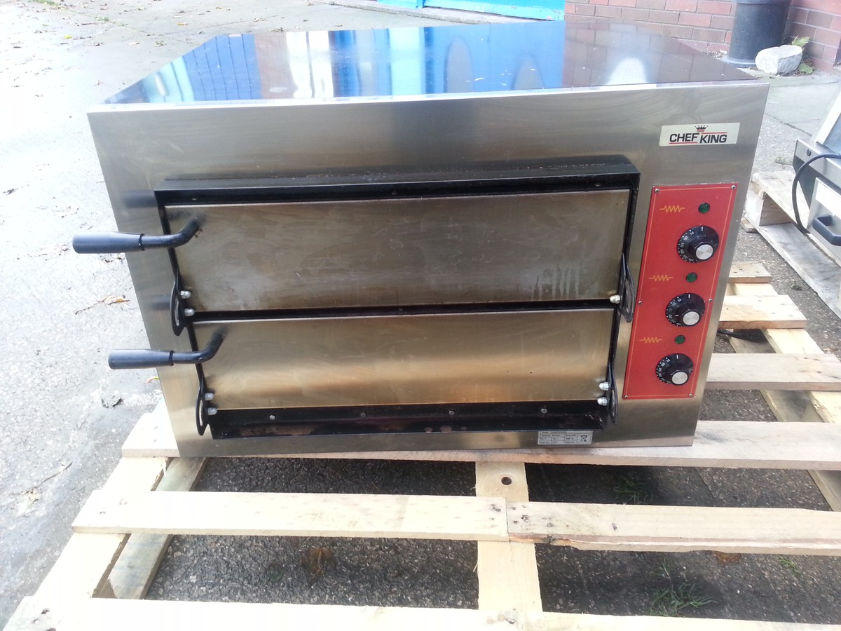 chef king double deck pizza oven