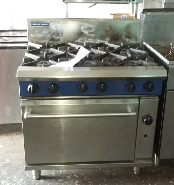 Blue Seal HD Nat Gas 6 ring range/oven