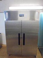 New Polar Stainless Steel Double Door Upright Freezer