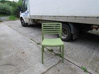 Light Green Stylish Italian Cafe Bistro Chairs