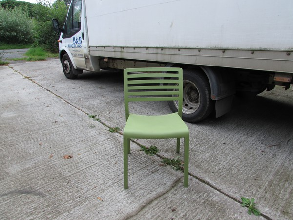 Light Green Stylish Italian Cafe Bistro Chairs