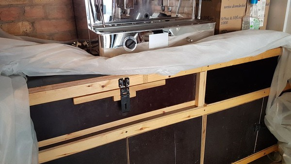 Fully Equipped Coffee Bar (Solid Wood)