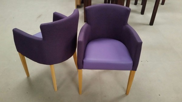 New (Slight Seconds) Armchairs Finished In 2 Materials