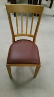 New (Slight Seconds) Light Oak Polished Wooden Chairs