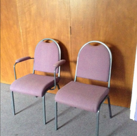 55 Upholstered Purple Meeting Chairs
