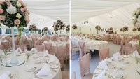 New 12m x 30m Marquee With Ivory Linings