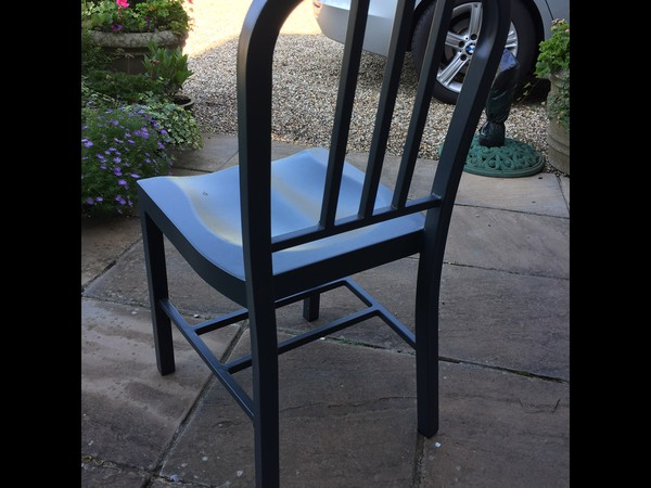 41 x Used Restaurant/Cafe Chairs Finished In Grey - Only 1 Year Old - Essex