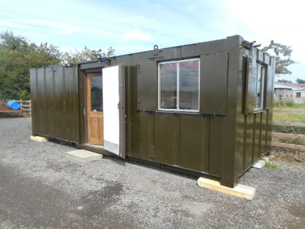 24' x 9' Anti Vandal Office, Kitchen Mess Portable Building