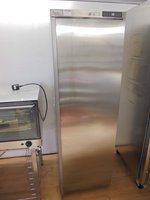 Stainless Steel LEC Upright Fridge