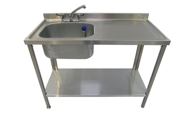 Ex Display 1200x600x900mm Single Bowl Commercial Sink *Brand New*