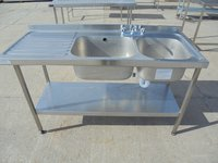 Stainless Steel Sissons Double Sink (5435)