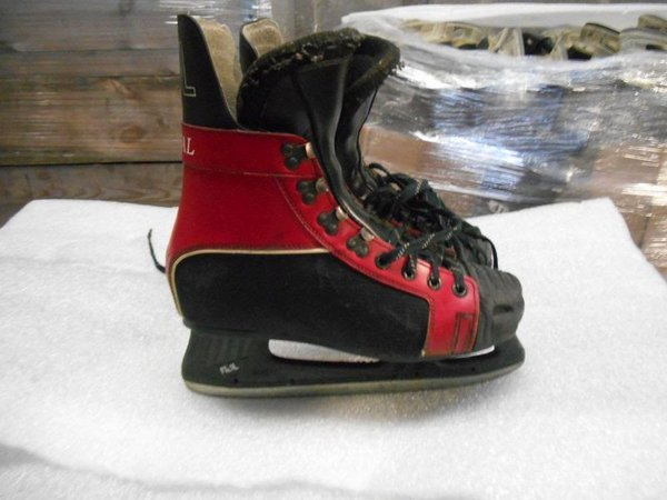 Red and Black Graf Arena Ice Skating Boots