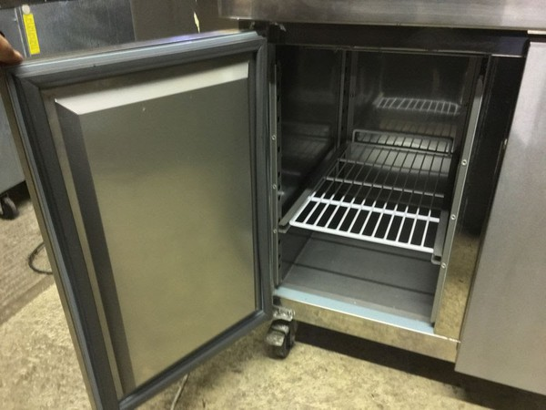 Polar 2 Door Counter Fridge
