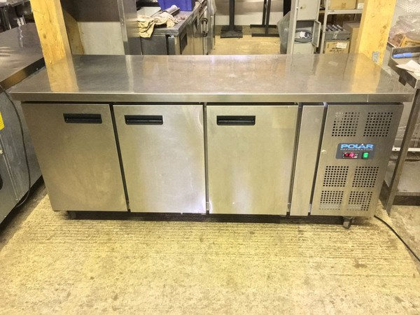 Polar 3 Door Counter Freezer